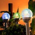 Solar Dekoratif Cam Bahçe Aydınlatması