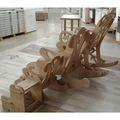Sallanan Ahşap Sandalye BÜYÜK Montessori Demonte Bahçe Tv Koltuk