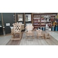 Sallanan Ahşap Sandalye ORTA Montessori Demonte Bahçe Tv Koltuk