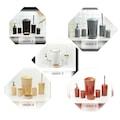 Akrilik 6 Parça Banyo Seti Farklı Renk Seçeneği