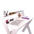 Enda Home X Ayaklı Ofis ve Ders Çalışma Masası Beyaz Pembe Mavi