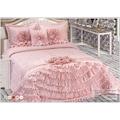 Peri Yatak Örtüsü Çeyizlik Yatak Odası Örtüsü  El İşlemeli