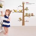 Ağaç Kuşlar Baykuşlar Yuva Kreş Çocuk ve Bebek Odası Dekoru PVC D