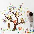 Ağaç Maymun ve Sincaplar Yuva Kreş Bebek ve Çocuk Odası Dekoru PV
