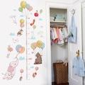 Balonlu Hayvanlar Boy ve Gelişim Ölçer Duvar Sticker