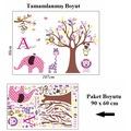 Çocuk Odası Dekorasyonu Pembe Mor Sevimli Hayvanlar ve Ağaç Hediy