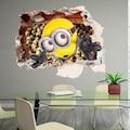 Çocuk Odası Duvar Dekoru Minions Minyonlar 3D Duvar Sticker