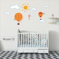 Çocuk Bebek Odası Duvar Sticker Etiket ayıcık dekor ay yıldız