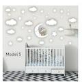 Çocuk Bebek Odası Duvar Sticker Yapıştırma Dekorasyon Kreş