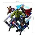 Duvar Sticker Avengers Yenilmezler Filmi 3 Boyutlu Çizim Hulk Çoc
