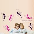 Pembe Mor Periler Kız Çocuk Odası Duvar Dekorasyonu Duvar Sticker