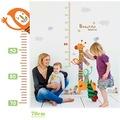 Renkli Zürafa Boy Ölçer Çocuk ve Bebek Odası Duvar Dekoru Anaokul