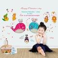 Sevimli Aşık Hayvanlar Bebek ve Çocuk Odası Duvar Dekoru Sticker