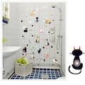 Sevimli Kediler Dekoratif Duvar Çıkartması Ev Salon Çocuk Odası D