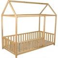 Montessori Yatak Çocuk Yatak 90X190 Doğal Çam Ağacından