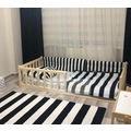 Montessori Yatak Çocuk Yatak Çatısız -Masifahşap
