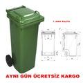 Çöp Konteyneri 120 Litre Yeşil-Tekerlekli Konteyner + FATURALI