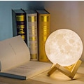 Dekoratif 3D Plastik Standlı Ay Gece Lambası Başucu Lambası 12 Cm
