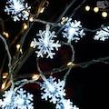Yıldız|Kar Tanesi|Top|Mandal Şekilli Pilli Dekoratif İp Led Işık