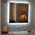 70x70 cm Kenarları Kumlama Yöntemi ile Dekore Edilmiş LED Ayna
