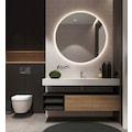 Ayna Fabrikası Beyaz Led Işıklı Yuvarlak Ayna 70 cm Çapında