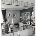 Piano Model 50x100cm Kenarları Füme Ayna ile Dekore Edilmiş Ayna