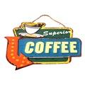 Duvar Dekorasyon Metal Tabela ''Superior Coffee'' Retro Vintage