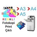 ✅ A3 A4 A5 Renkli Siyah Beyaz Adetli Toplu Fotokopi Çıktı Baskı