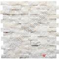 ✅ Simli Süper Beyaz Doğal Taş Patlatma Duvar Taşları