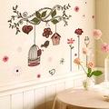 Ağaç Dalı Kuşlar Çiçekler Ev Dekorasyonu Duvar Dekoru Sticker Çık