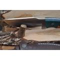Hakiki Trabzon Sürmene el yapımı dövme av ve kamp bıçağı.