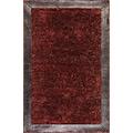 Saray Halı Simli Deri Kırmızı 150x230 SDERIK