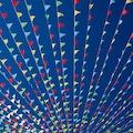 GMG 25 Metre İpe Dizili Üçgen Flama Bayrak Açılış Süsleme Bayrağı
