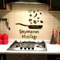 İsminize Özel Pleksi Mutfak Aynası   Mutfak Süsü