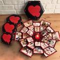 Patlayan Kutu Kişiye Özel 4 Katlı Fotoğraflı Sevgiliye Hediye