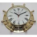 Pirinç Denizci Dümen Duvar saati 23cm