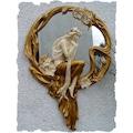 Veronese Kadın Figürlü Duvar Aynası Varaklı 72cm
