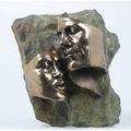 Veronese Genesis Kadın Erkek Yüz Yüze Figür Heykel 27,5cm