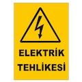 UYARI LEVHASI - ELEKTRİK TEHLİKESİ - 4 ADET