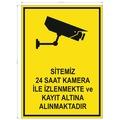 UYARI LEVHASI - KAMERA İLE İZLENMEKTEDİR - 4 ADET
