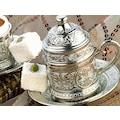 Osmanlı Motifli Kahve Fincanı - Gümüş