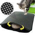 60x45 Elekli Kedi Tuvalet Önü Paspası Kedi Kumu Paspası Delikli