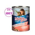 Miglior Gatto Somonlu Konserve Kedi Maması 405 Gr 24 ADET