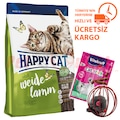 Happy Cat Weide Lamm Kuzu Etli Kedi Maması 10 Kg + Hediyeler
