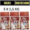 Proline Balıklı Yetişkin Kedi Maması 1.5 KG x 3 Adet