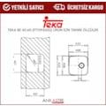 TEKA 40.40 (40x40) Tezgah Altı Evye (Paslanmaz Çelik /Mikroketen)
