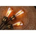 ST64 Edison Flamanlı Rustik Led Ampul 4-6-8 W-Amber Armut Model