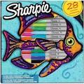 Sharpie Fine Permanent Markör 28 Li Balık Set
