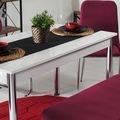 Evform Oval Taytüyü Banklı Masa Takımı Mutfak Masası Yemek Seti