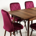 Lara Açılır Ahşap Mutfak Yemek Masa Sandalye Takımı